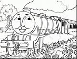Train Coloring Simple Thomas Quick Getdrawings sketch template
