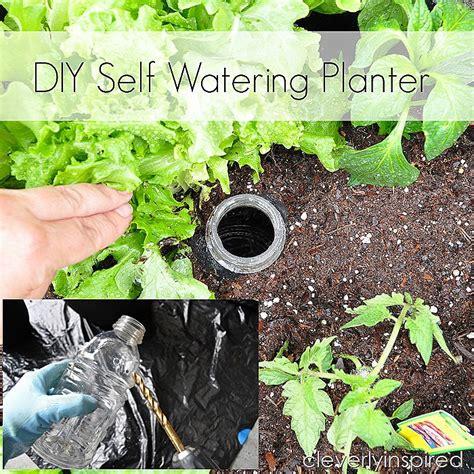 self watering planters diy diy self watering planter cleverly inspired