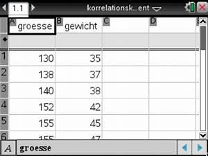 Größe Und Gewicht Des Ungeborenen Berechnen : korrelationskoeffizient r berechnen onlinekompendium zum ti nspire cx cas des imbf ~ Themetempest.com Abrechnung