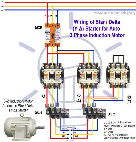 Star Delta Starter Motor Starting Method Power Control