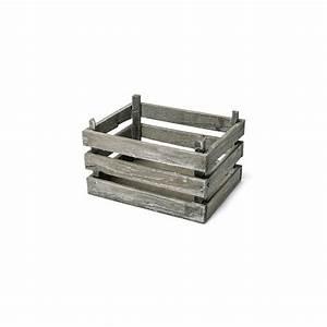 Recyclage Petite Cagette : petite cagette en bois vieilli accessoire deco mariage ~ Nature-et-papiers.com Idées de Décoration