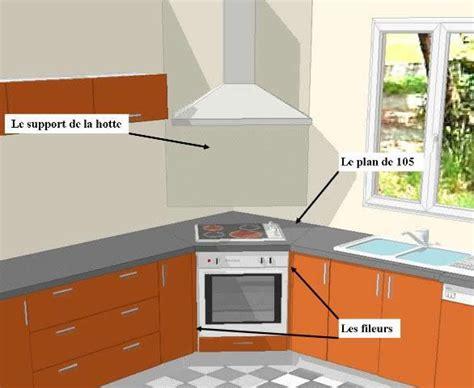 meuble cuisine angle brico depot implantation évier en angle plaque cuisson en angle