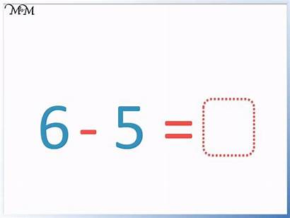 Subtraction Number Sentences Sign Sentence Equals Example