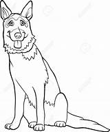 Shepherd German Coloring Dog Pages Cartoon Dogs Bigstockphoto Shepherds Cute Vector Cartoons Resources Drawing Lightbox Create sketch template