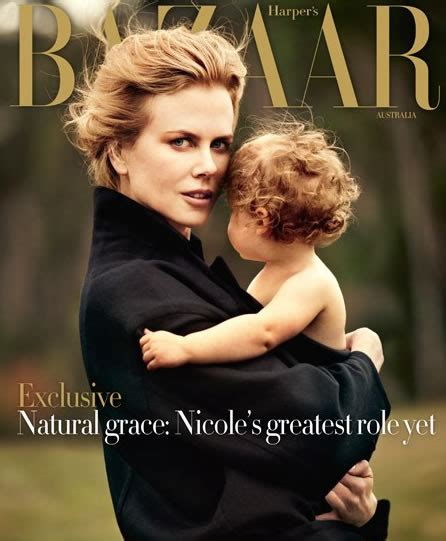 Nicole Kidman Mostra Seu Lado Materno Na Harper's Bazaar