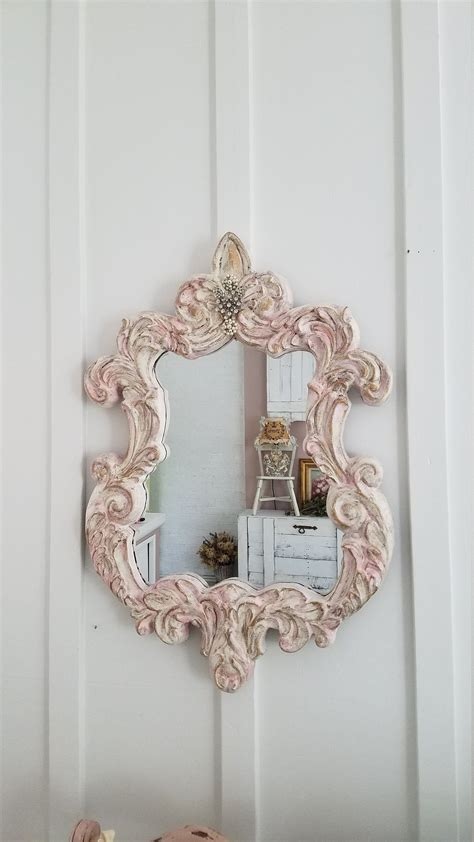 ( view before and after pics ) >i created this piece, starting with a ornate metal serving tray. FRENCH Decorative Mirror Ornate Mirror Nursery Mirror Wall ...
