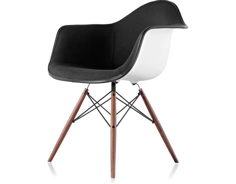 furniture bar stools eames upholstered armchair with dowel base hivemodern com