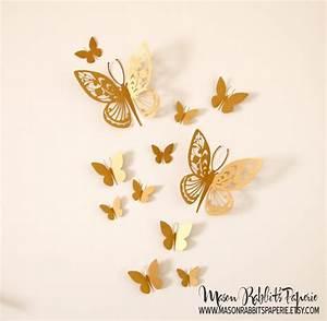 Gold butterflies pink party decor