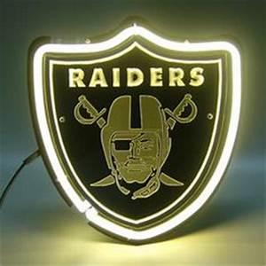 Oakland Raiders Shield Display Shop Neon Light Sign