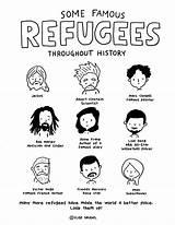 Refugees Famous Coloring Menu Elisegravel sketch template