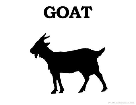 printable goat silhouette print  goat silhouette