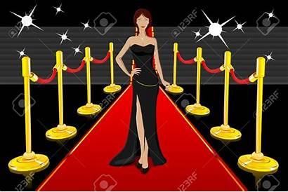 Carpet Clipart Actress Star Actresses Clip Hollywood