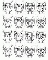 Coloring Owl Pdf sketch template