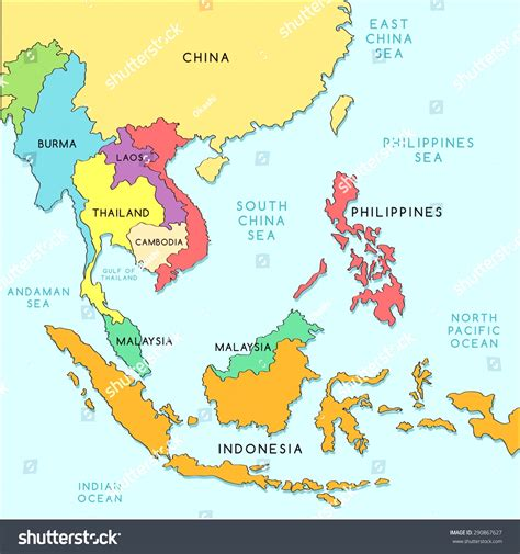 map  southeast asian countries  travel information