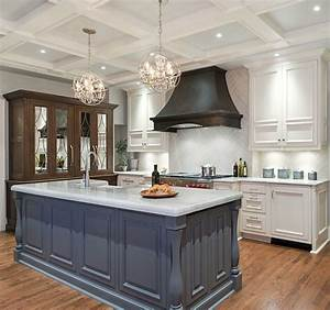Transitional kitchen renovation home bunch interior for Kitchen colors with white cabinets with metal chandelier wall art