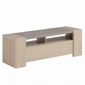 Meuble Tv Beton : meuble tv stark ch ne b ton ~ Teatrodelosmanantiales.com Idées de Décoration
