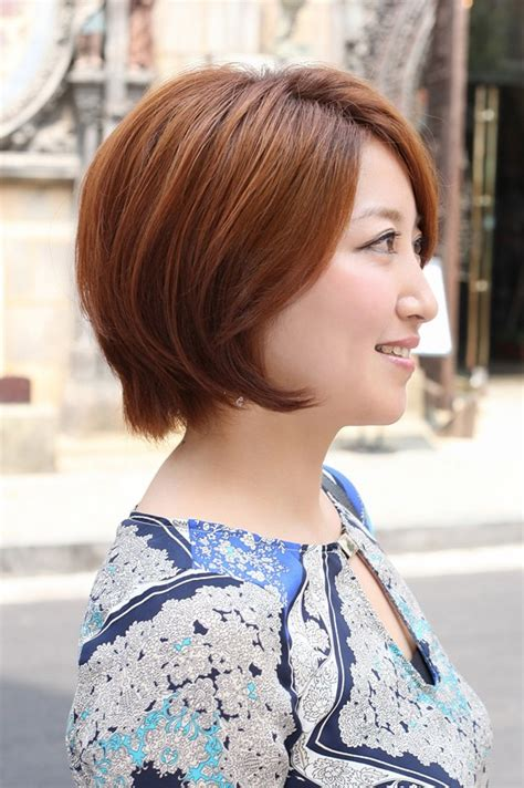 side view  short auburn bob hairstyle hairstyles weekly