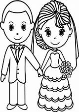 Bride Coloring Pages Groom Printable Adults sketch template
