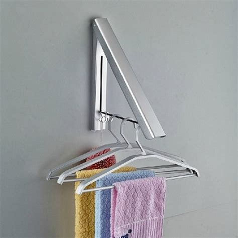wall mounted clothes rack 2015 new style aluminum wall mounted clothes hanger rack