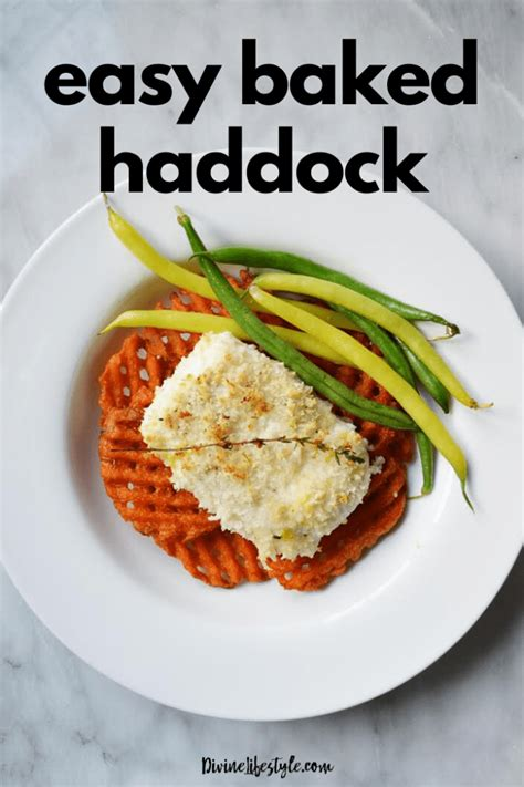 If you're looking to minimize fat intake, haddock is preferable to salmon. Quick and Easy Baked Haddock Recipe Dinner Divine Lifestyle