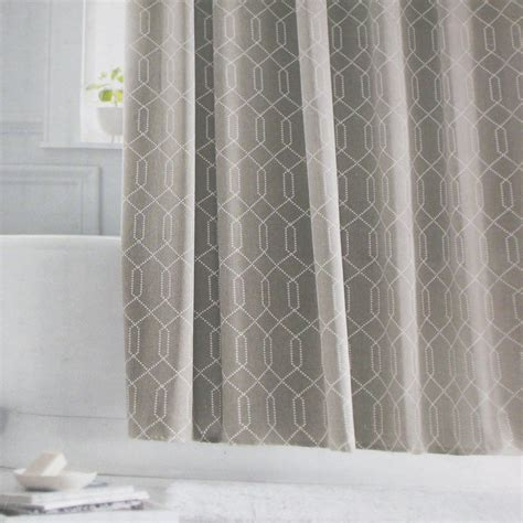 shower curtains target threshold grey gray white fabric shower curtain target