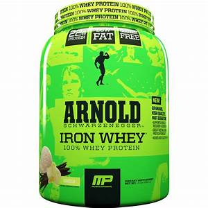 Musclepharm Arnold Schwarzenegger Iron Whey 100  Whey Protein Vanilla Dietary Supplement  1 5