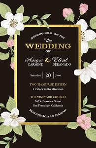 bold floral wedding invitation vistaprint bold floral With vistaprint diamond wedding invitations