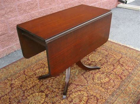 antique 1940 s duncan phyfe style mahogany drop leaf table