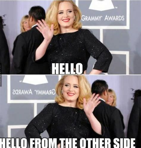Adele Meme - adele hello meme hello from the other side lmao funny humor pinterest adele memes and funny
