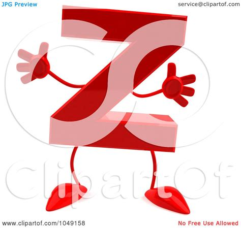 royalty free rf clip illustration of a 3d letter z character by julos 1049158