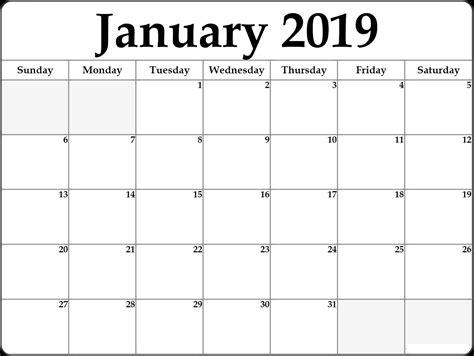 january  calendar printable printable calendar