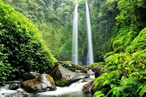 tiu teja waterfall natural beauty waterfall  north lombok