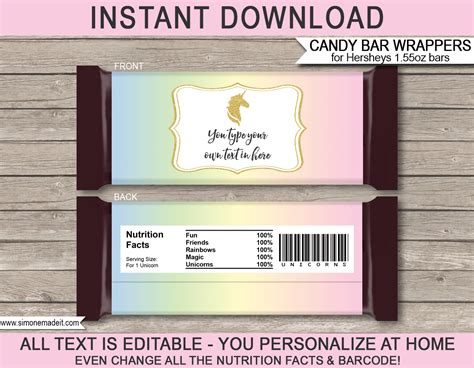 free printable bar wrappers templates diy bar wrappers template diy do it your self