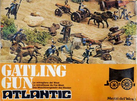 atlantic  gatling gun figures  scale