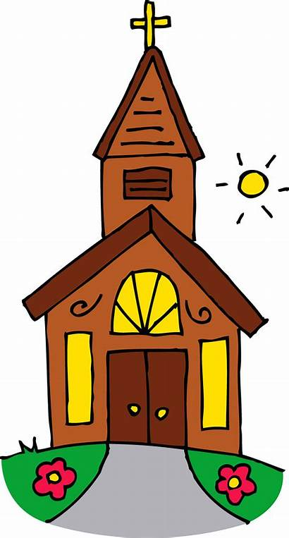Church Clip Sunny Building Sweetclipart