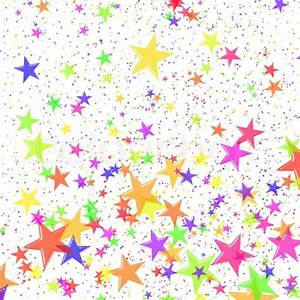 Multi-coloured stars in the form of confetti Stock Photo