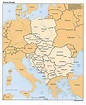 Eastern Europe political map 1993 - Full size