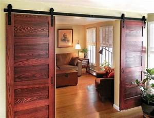 double sliding barn door hardware rustic black barn With barn door hardware for thick doors