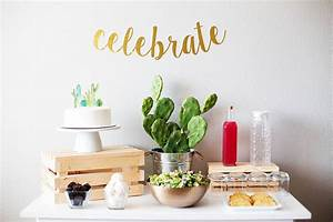 Simple Cactus Themed Baby Shower - All for the Memories
