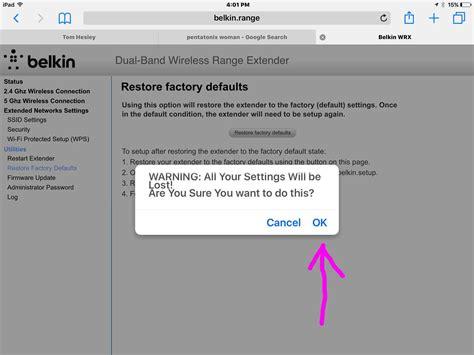 how to reset belkin n600 in wireless range extender f9k1122 tom s tek stop