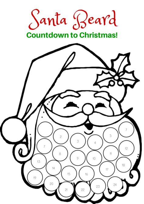 deer lollipop cover template pdf countdown to christmas santa beard printable holidays