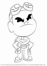 Titans Teen Gizmo Draw Go Drawing Step Cartoon Tutorials Drawingtutorials101 sketch template