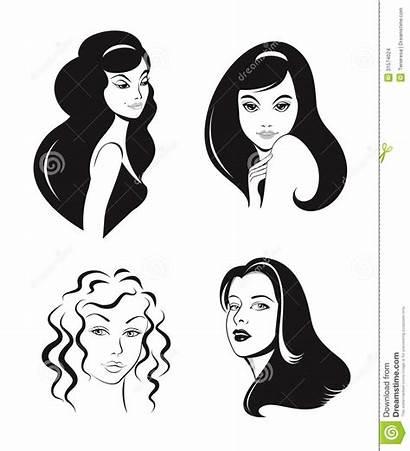Vector Woman Faces Illustration