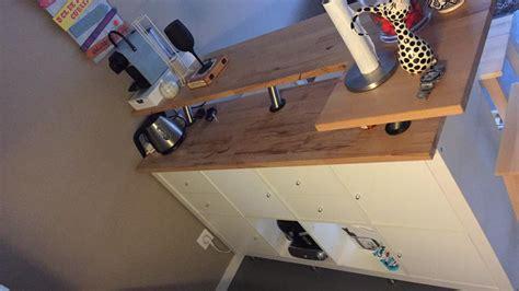 ilot central de cuisine ikea table de bar avec kallax bidouilles ikea