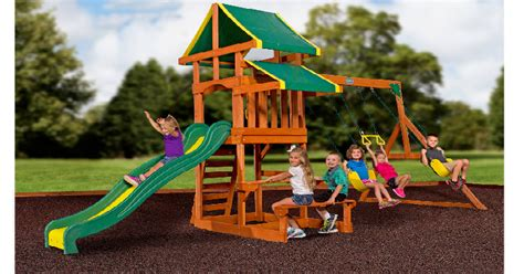 Backyard Deals by Backyard Discovery Tucson Cedar Wooden Swing Set Only 349