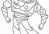 Lightyear Buzz Coloring Coloring4free sketch template