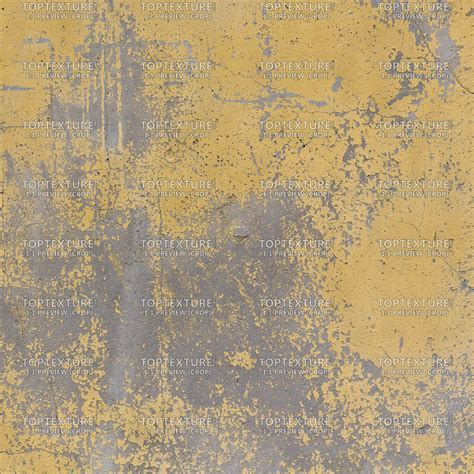 Worn Yellow Painted Concrete Wall   Top Texture