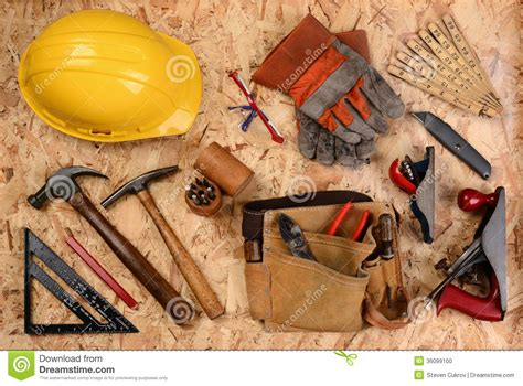 construction equipment  plywood stock photo image