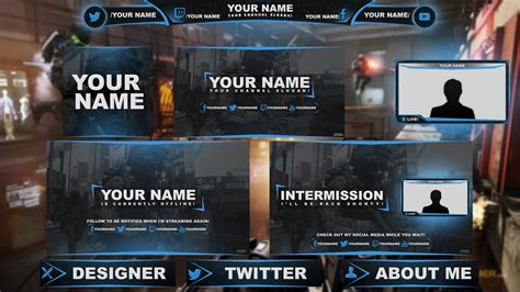 twitch alert images template free graphics twitch hitbox livestream template pack 1