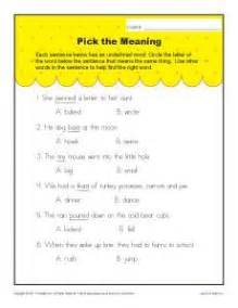 context clues worksheets for 1st grade reading